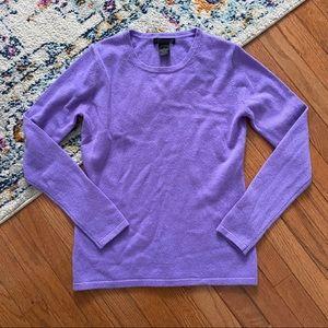 Preswick & Moore purple cashmere long sleeve